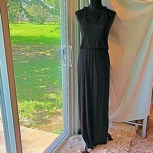 Rolla Coster Black Razor Back Maxi Dress Sz S